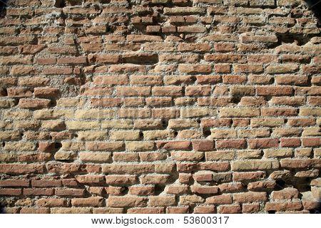 Ancient Roman Brick Wall Background