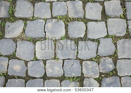 Ancient Roman Stone Walkway Background