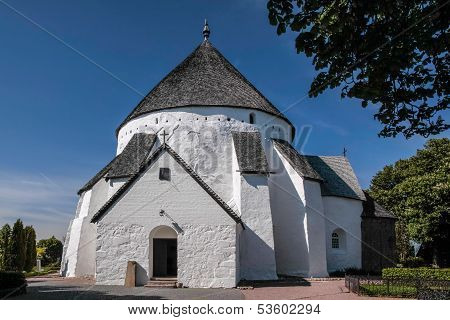 The Church Osterlars Kirke On Bornholm