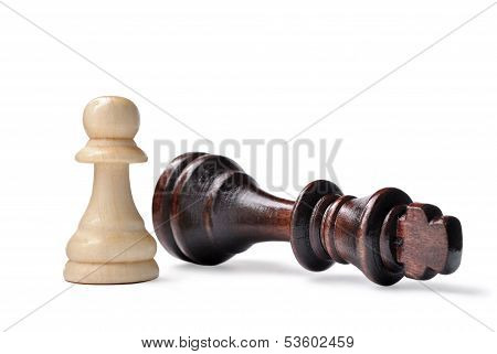 Chess Pieces - King And Pawn