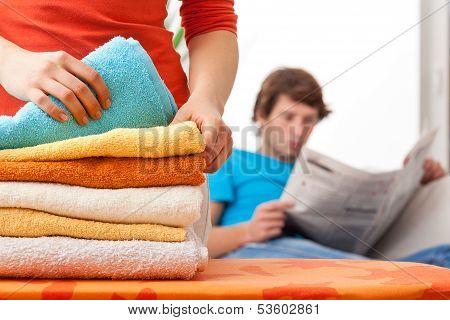 Housewife Working Hard