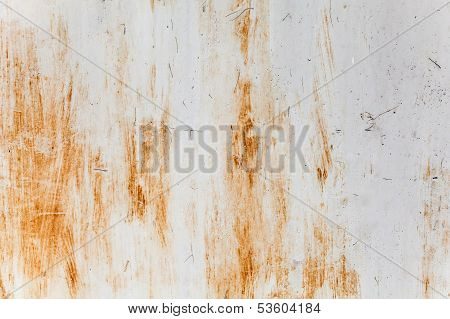 Rusted Gray Metal Wall. Photo Background Texture