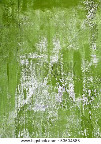 Old Green Painted Galvanized Steel Sheet  Detailed Background Texture