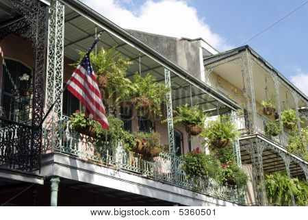 Balcony With Flag