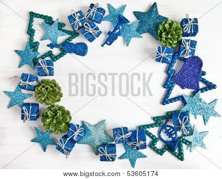 Background With Glittery Christmas Decoration