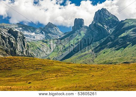 French Pyrenees Range Of Peaks