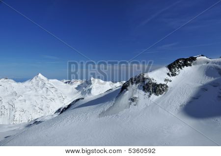 Glaciers And Mountains