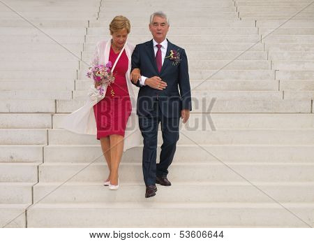 Wedding Of Elderly People
