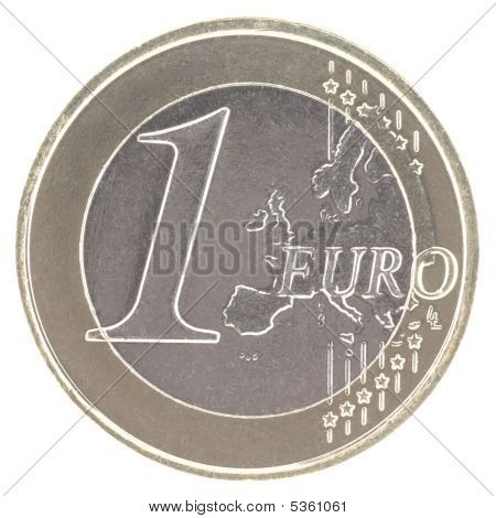 Uncirculated 1 Euro New Map