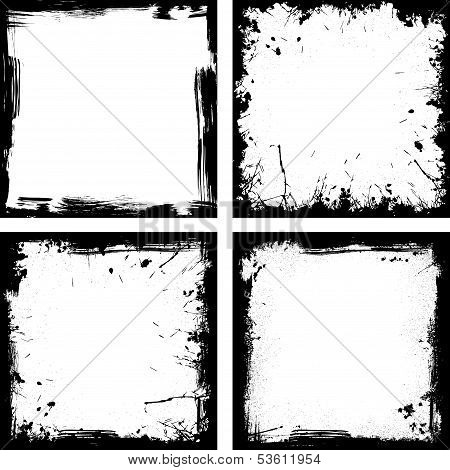 Four black frames