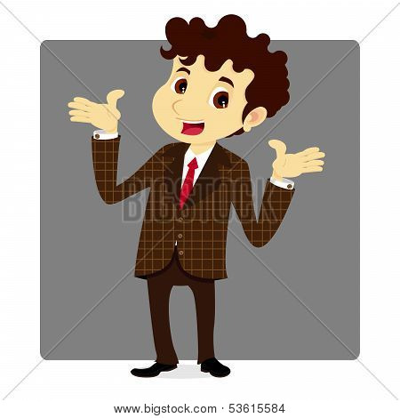 Business Man In Plaid Suit