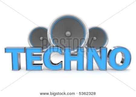 Speakers Techno - Blue