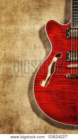 Semi-Hollow Guitar