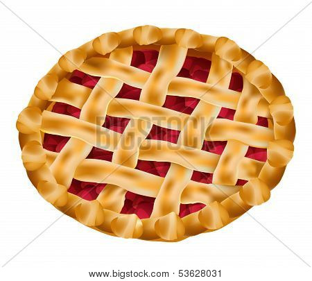 vector delicious cherry pie