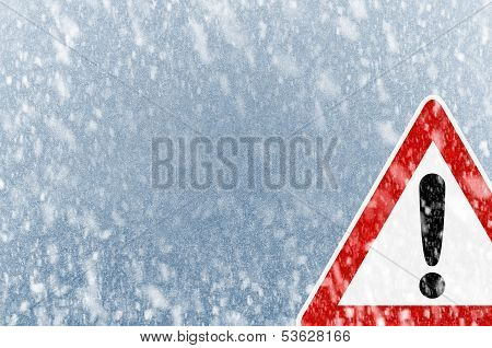 Winter background with copy space