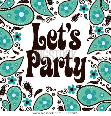 Convite para festa de estilo anos 70