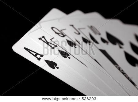 Ace Royal Flush - Spades