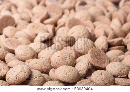 Background Of Brown Ginger Nuts, Typical Dutch Sweets At Sinterklaas Event