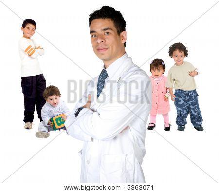 Pediatrician With Children