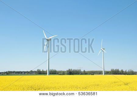 two wind turines