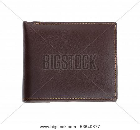 Leather Wallet On White