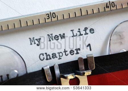 Mi nueva vida capítulo un concepto para empezar de nuevo, resolución de año nuevo, estilo de vida saludable y dieta