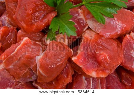 Raw Diced Beef