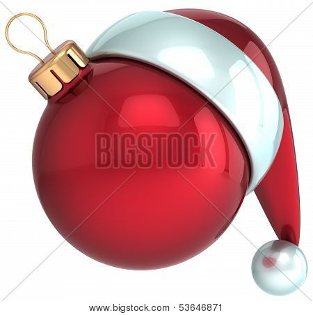 Happy New Year 2014 Santa hat red Christmas ball decoration Merry Xmas