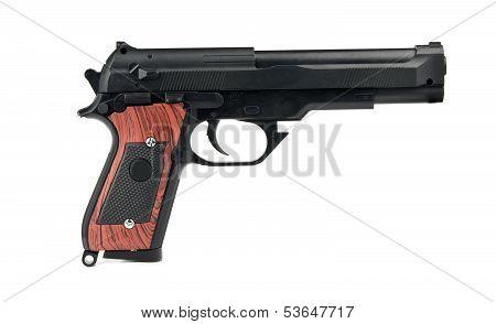 Handgun Is Isolated