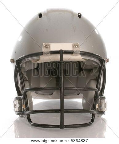 Football Helmet Facing Forwards