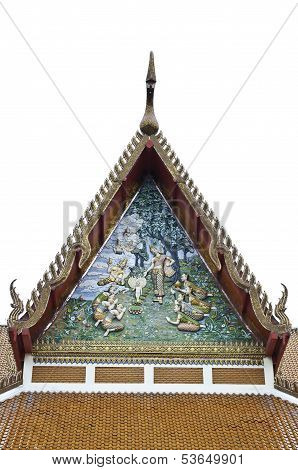Buddha top the roof