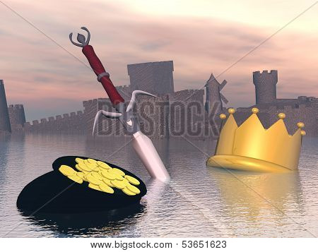End of royalty - 3D render