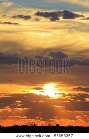 Sunset Background - African Beautiful Wonder