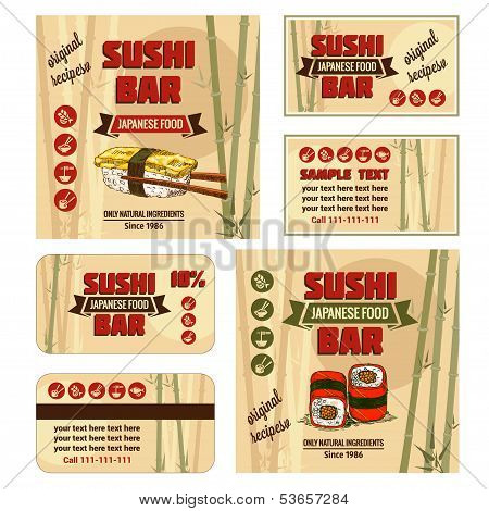 corporate identity for sushi bar