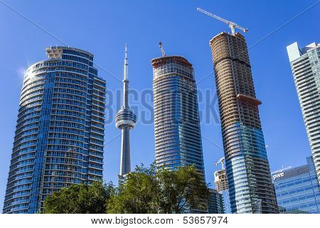CN tower among Condos