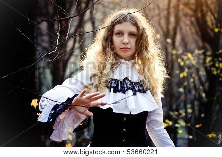 Victorian Style. Young Woman