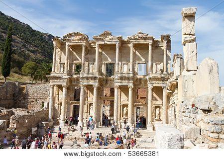 Library Of Celsus In Ephesus, Turkey