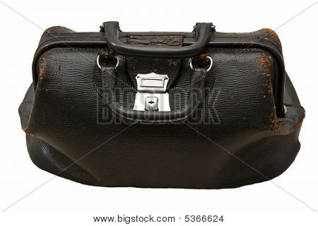 Antique Doctor Bag Isolated
