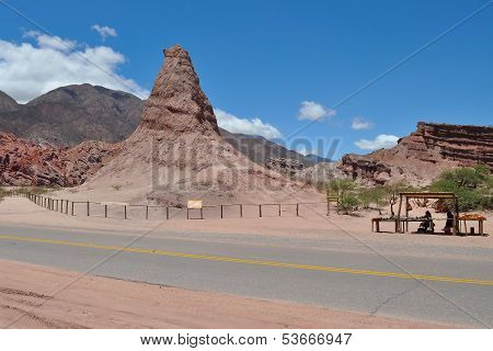 El Obelisco - Rock Formation. Quebrada De Las Conchas.