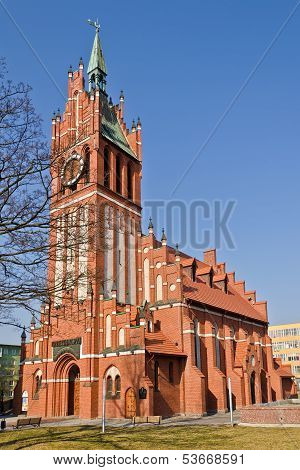 Church Of The Holy Family, Neo-gothic 20Th Century. Kaliningrad (until 1946 Koenigsberg), Russia