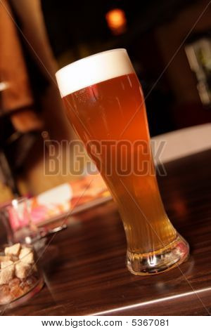 Glass Of Beer In Bar