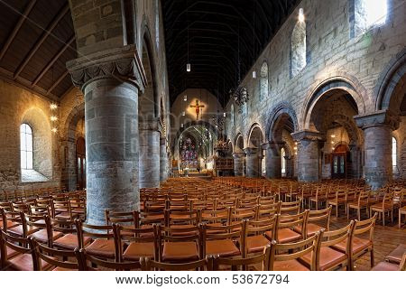 Interior Of The Cathedral In Stavanger
