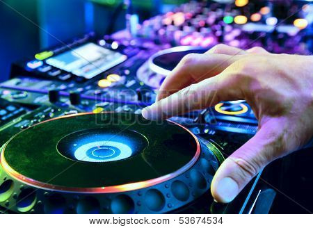 Dj Mixes The Track
