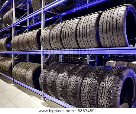 Car Tires Closeup