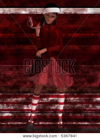 Goth Santa's Helper