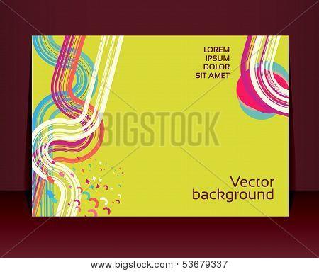 Flyer, Leaflet, Booklet Layout. Editable Design Template. Eps10 Vector, Transparencies Used.
