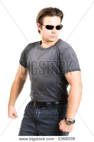 Strong Man In Sunglasses