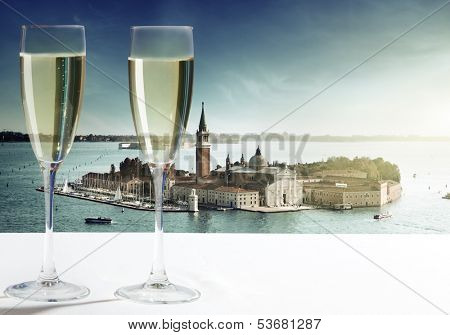 champaign Glasses and  Venice