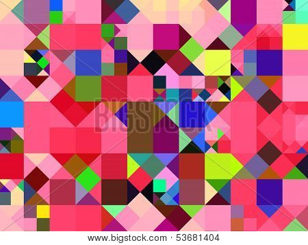 Abstract Multicolor Squares Background