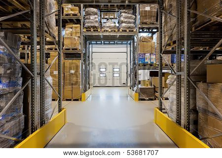 Loading Dock In Warehouse